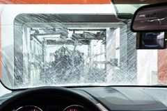 Autowaschmaschinenmaschine Lizenzfreie Stockfotos