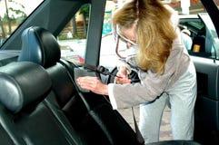 Autowashington-saubere Maschine, Autowäsche mit Schwamm und Schlauch Stockfoto