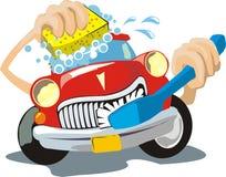 Autowasserette royalty-vrije illustratie