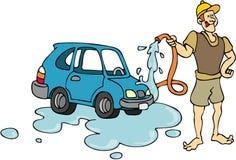 Autowasserette stock illustratie