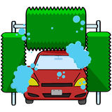 Autowasserette Stock Afbeelding