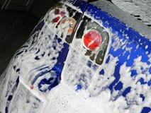 Autowasserette bij het benzinestation De dienst en behoud van vervoer Details en close-up stock foto's
