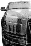 Autowasserette met zeep Royalty-vrije Stock Afbeelding