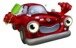 Autowasserettemascotte royalty-vrije illustratie