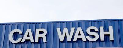 Autowasseretteteken op een post van het voertuigdetail royalty-vrije stock foto's