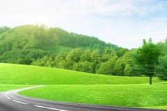 Autoweg Lizenzfreies Stockfoto