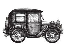 Autoweinlesevektorlogo-Designschablone transport Lizenzfreie Stockfotos