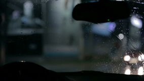 Autowischer an Tag und Nacht stock video footage