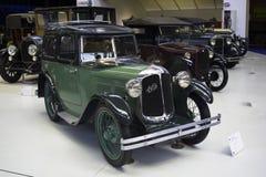 Autoworld博物馆,布鲁塞尔,比利时, 2016年7月10日 免版税库存照片