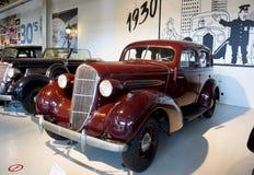 Autoworldmuseum, Brusells, België, 10 juli 2016 Stock Foto