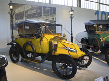 Autoworldmuseum, Brusells, België, 10 juli 2016 Stock Fotografie
