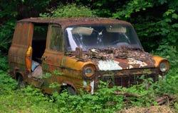 Autowrack in der Natur Stockfoto
