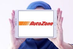 Autozone części detalisty automobilowy logo Fotografia Royalty Free