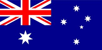 Autralian国旗的传染媒介例证 正确澳大利亚旗子、正式颜色和比例 全国澳大利亚旗子 库存例证