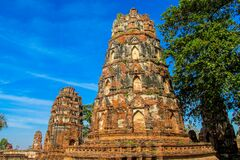 Autthaya Historical Park Ancient Temple Stupa Royalty Free Stock Images