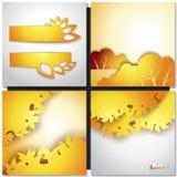 Autum黄色叶子背景 图库摄影