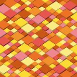 Autum. Abstract seamless pattern from the isometric cubes and colors of autumn. Vector background. Seamless illustration of abstract texture with squares. Autum Royalty Free Stock Photo
