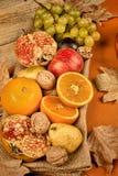 Autum assortment fruit still life Royalty Free Stock Photo