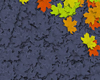 Autum Background. With colorful fall leaves falling down from tree royalty free illustration