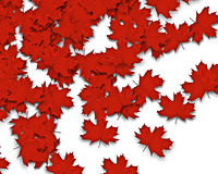 Autum Background. With redl fall leaves falling down from tree royalty free illustration
