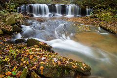 Autum Cascade in North Carolina Stock Images