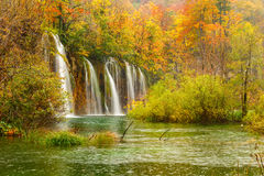 Autum colors and waterfalls of Plitvice National Park Royalty Free Stock Images