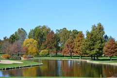 Autum at Country Club Royalty Free Stock Photography