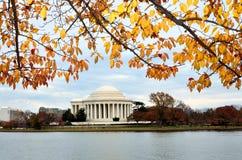 autum dc Jefferson pamiątkowy Thomas Washington zdjęcie royalty free