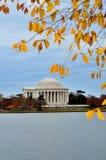 autum dc Jefferson pamiątkowy Thomas Washington zdjęcie stock