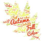 Autum etykietki chmury Kolorowy liść Kształtujący tło Zdjęcia Stock