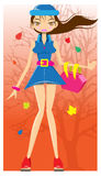 Autum fashion girl Royalty Free Stock Image