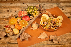 Autum fruit still life Royalty Free Stock Image