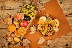 Autum fruit still life Royalty Free Stock Photography