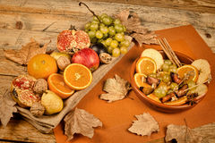 Autum fruit still life Stock Photo