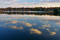 Autum  lake. Autumn colors is around the lakes Royalty Free Stock Photos