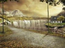 Autum Landschaft stockfotografie