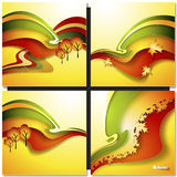 Autum Leaf Vector Background Royalty Free Stock Images