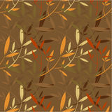 Autum leaves seamless pattern Stock Photography