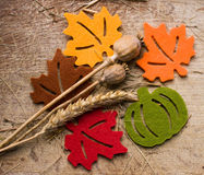 Autum theme decoration Stock Photo