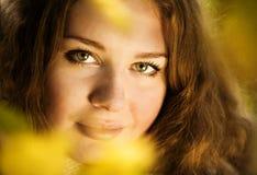 autuman женщина портрета красотки Стоковое Фото