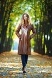 autuman женщина портрета красотки Стоковое Изображение RF