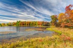 Autumn湖在美国中西部 图库摄影