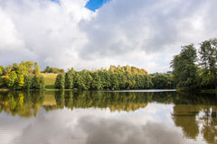 Autumn湖 库存图片