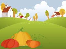 Autumn. Vector background with orange pumpkin Stock Photography