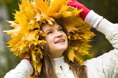 In the autumn Royalty Free Stock Photo
