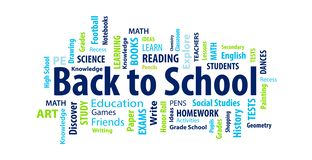 Back to School Word Cloud. On a white background vector illustration
