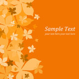 Autumn. Illustrated fall leaves autumn on orange background Royalty Free Stock Image