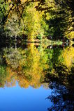 Autumn. Reflection of trees on lake during autumn Royalty Free Stock Photography