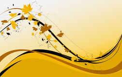Autumn. Design background with maple leaves vector illustration