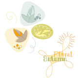 Autumn. Simple abstract autumn background, vector illustration Stock Images